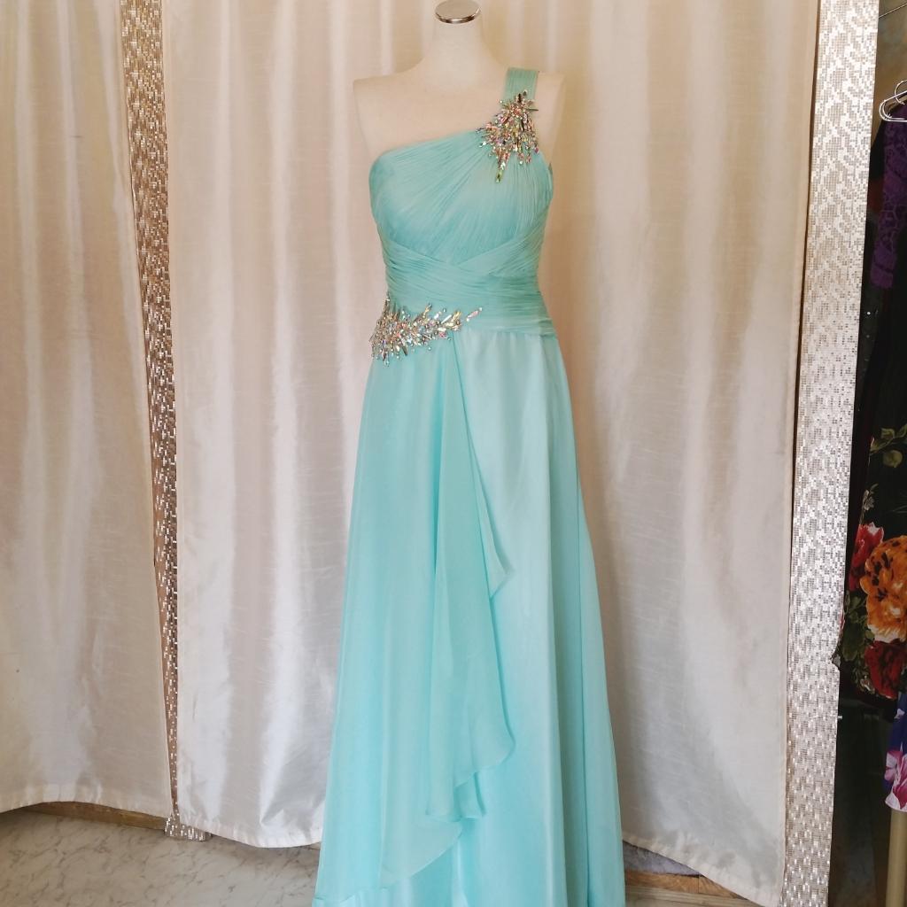 ワンショルダードレス シフォンドレス ステージドレス