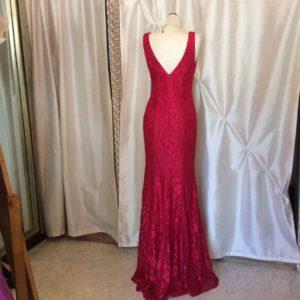 ピンクレースドレス ロングドレス