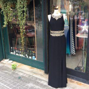 シンプル ブラックドレス パーティードレス お呼ばれドレス 演奏会ドレス