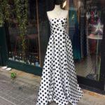 ドット ドレス パーティードレス お呼ばれドレス 演奏会ドレス