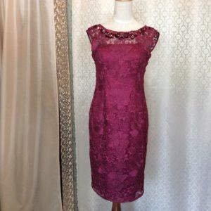 沖縄 ピンクレースドレス パーティードレス お呼ばれドレス