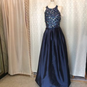 2ピース ロングドレス ステージ衣装 スパンコール 沖縄 パーティードレス